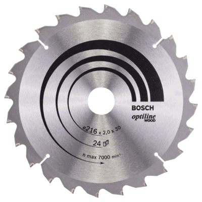Пильный диск 216x30xT24 для грубого реза по дереву Optiline Wood Bosch Professional 2608640431